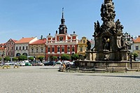 Historic city square of Chrudim, Bohemia, Czech Republic