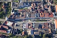 Little Tauern town Gmuend/Carinthia, aerial view, Carinthia, Austria