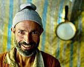 closeup portrait of a man in kashmir