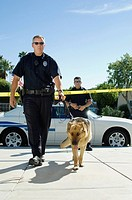 Police Officer and Police Dog