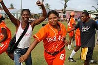 Tasbapauni, Nicaragua, Women cheering at softball match