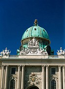 Dome of the Michaelertract, Hofburg Complex, UNESCO World Heritage Site, Vienna, Austria, Europe