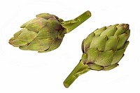 Close_up of two artichokes
