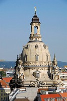 Cupola of the Frauenkirche, Dresden, Saxony, Germany