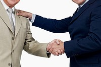 Close-up of two businessmen shaking hands (thumbnail)