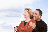 Close_up of a mature couple smiling