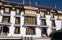 Main hall, Drepung monsatery, Lhasa, Tibet, China, Asia