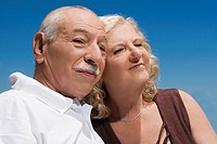 Close_up of a senior couple
