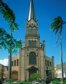 The cathedral at Fort de France, Martinique, Lesser Antilles, West Indies, Caribbean, Central America