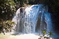 Waterfall in a forest, El Chiflon, Socoltenango, Chiapas, Mexico
