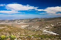 Panoramic view of mines, Real De Catorce, San Luis Potosi, Mexico