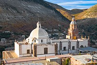 High angle view of a cathedral, Purisima Concepcion Temple, Real De Catorce, San Luis Potosi, Mexico