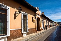 Building along a street, San Cristobal De Las Casas, Chiapas, Mexico