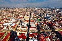 Aerial view of a city, Mexico city, Mexico (thumbnail)