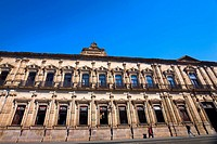 Low angle view of a government building, Palacio Federal, Morelia, Michoacan State, Mexico
