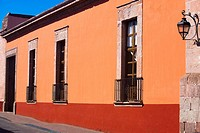 Facade of a building, House of the revisory fiscal, Morelia, Michoacan State, Mexico (thumbnail)