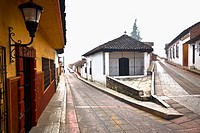 Church in a street, San Cristobal De Las Casas, Chiapas, Mexico