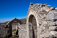 Old ruins of a building, Real De Catorce, San Luis Potosi, Mexico
