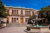 Fountain in front of a government building, Palacio De Gobierno, Zacatecas, Mexico