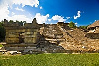 Old ruins of a building, El Tajin, Veracruz, Mexico