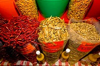 Spices at a market stall, Xochimilco, Mexico (thumbnail)