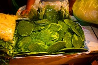 Close_up of vegetables at a market stall, Xochimilco, Mexico