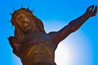 Low angle view of a statue of Jesus Christ, Broken Christ, San Jose De Gracia, Aguascalientes, Mexico