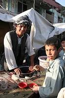 Street stall, Maimana, Faryab Province, Afghanistan, Asia