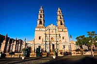 Facade of a cathedral, Catedral De Aguascalientes, Aguascalientes, Mexico