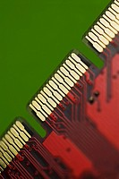 Close_up of an accelerated graphics port card