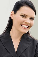 Portrait of a businesswoman smiling (thumbnail)