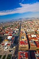 Aerial view of a city, Palacio De Bellas Artes, Mexico City, Mexico