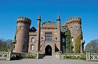 Moyland Castle, Museum of modern Art, Bedburg Hau, Kleve, North Rhine-Westphalia, Germany