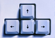 Cursor arrows on computer keyboard