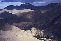 View at Lamayuru monastery ( Lamayuru Gompa ), Ladakh, Jammu & Kashmir State, India