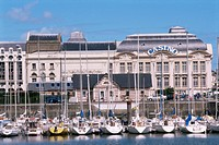 Casino from across the harbour, Trouville, Basse Normandie Normandy, France, Europe