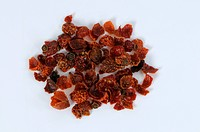 Rose hips, dried, Rosa spec., cut out, object
