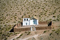 Small church near El Tatio geysers, Atacama desert, Chile, South America