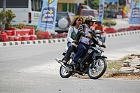 Biker in Pangkalanbun, Central_Kalimantan, Borneo, Indonesia