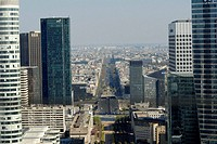 La Defense and La Grande Armée Avenue, Paris, France
