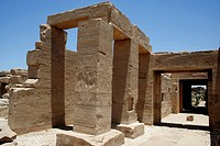 Temple of king Seti I the father of Rameses II 19th dynasty, ruled 1318-1304 BC, west bank, luxor Thebes, Egypt