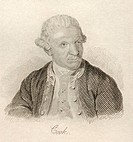 Captain James Cook 1728 - 1779 British naval commander, navigator and explorer From the book Crabb's Historical Dictionary published 1825