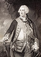 Edward Hawke 1st Baron Hawke 1705 - 1781 Admiral in the British Royal Navy From the book Gallery of Historical Portraits published c 1880