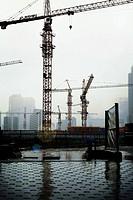 Seoul, Korea, buildings under construction