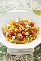 Pasta Primavera with Feta, Tomatoes and Peppers