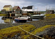 low tide at blue rocks near lunenburg nova scotia canada