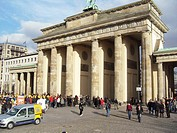 Berlin, Germany. The Brandenburg Gate. The Brandenburg Gate (German: Brandenburger Tor) is a former city gate and one of the main symbols of Berlin an...