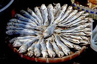 To prepare (fish) by splitting, salting, and smoking. A herring or salmon that has been split, salted, and smoked. To preserve or flavor (food) in a s...