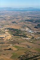 Southern tip of La Bisbal d´Empordà. Baix Empordà. Girona province, Catalonia, Spain
