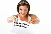 Bride Tearing Up Pre_Nuptial Agreement